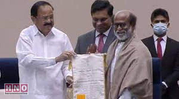 'தாதா சாகேப் பால்கே' விருது பெற்றார் நடிகர் ரஜினிகாந்த்